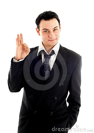 Free Friendly Businessman Showing Ok Sign Stock Images - 1804414