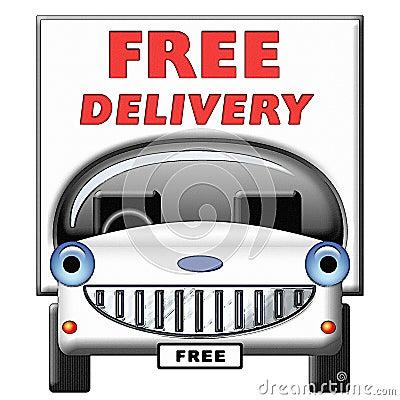 Friendly Cartoon Delivery Van