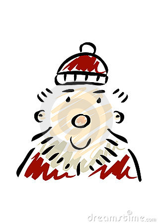 Friendly Cartoon Santa