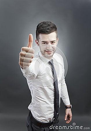 Friendly confident man