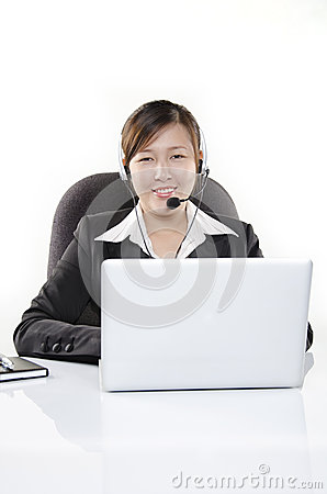 Friendly customer service in call center