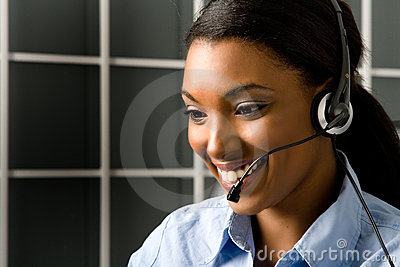 Friendly customer service rep