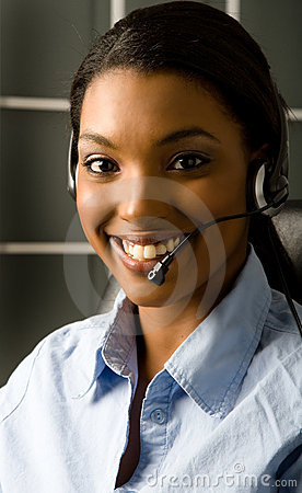 Free Friendly Customer Service Rep Royalty Free Stock Photography - 2394337