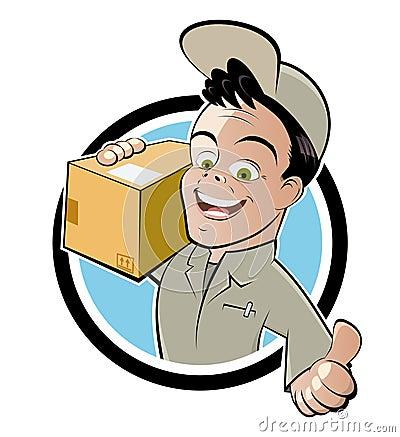 Friendly deliveryman