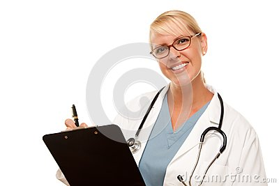 Friendly Female Blonde Doctor