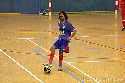 Friendly futsal match France vs Belgique Editorial Stock Image