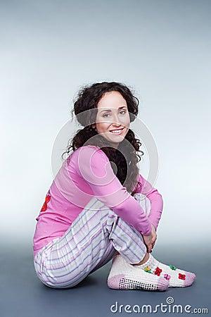Friendly girl in pyjamas
