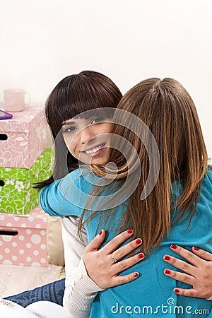 Free Friendly Hug Stock Photography - 39689702