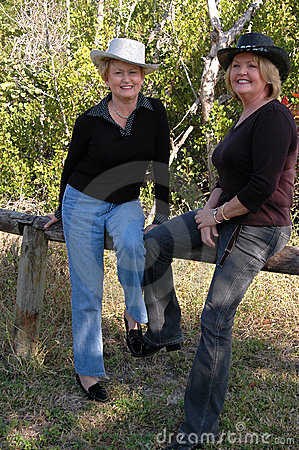 Friendly mature cowgirls