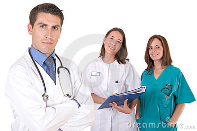 Friendly medical team