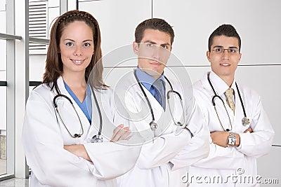 Friendly medical teamwork