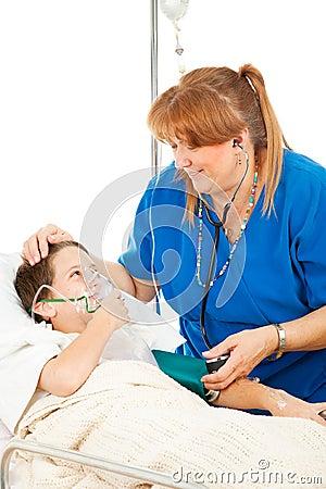 Friendly Nurse and Child