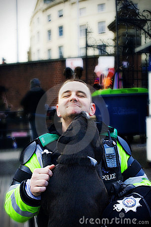 Friendly Police Officer. Editorial Image