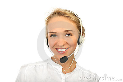 A friendly secretary/telephone operator