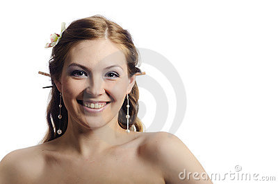 Friendly smiling beauty woman