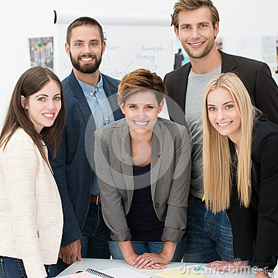 Friendly successful business team