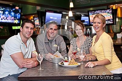 Friends in the bar