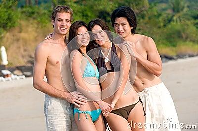 Friends On Beach