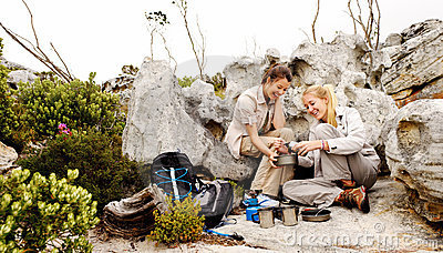 Friends Camping Royalty Free Stock Image - Image: 22774716