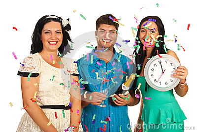 Friends celebrate new year party