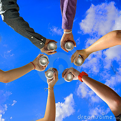 Free Friends Cheers At Summer Party Stock Image - 21819831