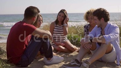 Friends Have A Great Conversation. Stock Video - Video of ...