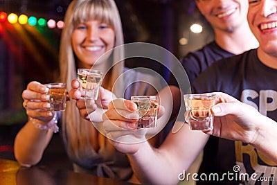 Friends having a drink