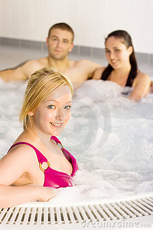 Free Friends In The Jacuzzi Stock Images - 10516544