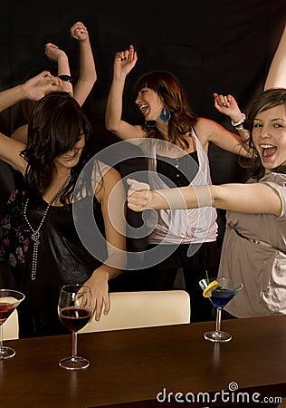 Friends in the Nightclub