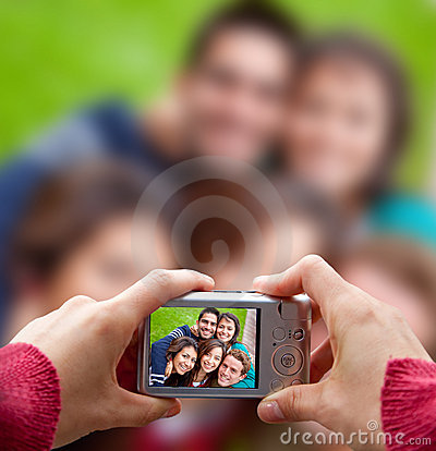Friends taking a picture