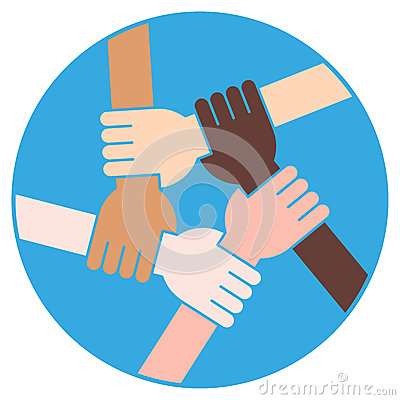 Friendship Circle For Solidarity And Teamwork Cartoon Vector
