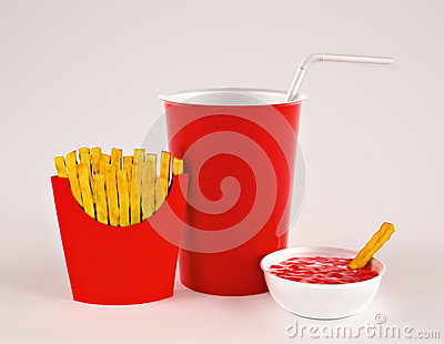Fries with drink