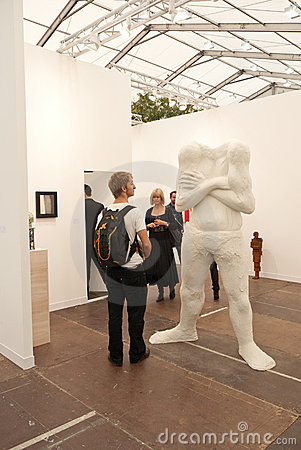 Frieze Contemporary Art Fair London. Editorial Stock Photo