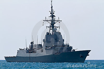 Frigate F-101 Alvaro de Bazan Editorial Stock Photo