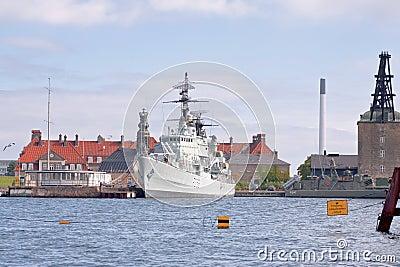 The frigate PEDER SKRAM in Copenhagen Editorial Stock Photo