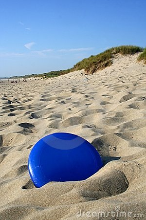Free Frisbee In Sand Royalty Free Stock Image - 1281166