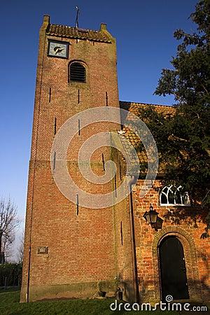 Frisian saddle roof church