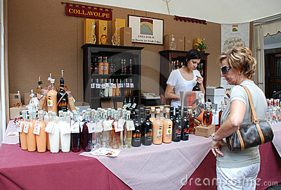 Friuli Doc Drinks Stall Editorial Stock Image