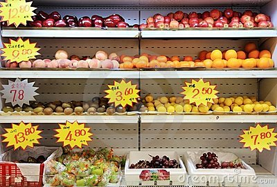 Friut in supermarket in china Editorial Photography