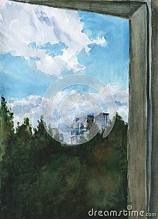 Från fönstret