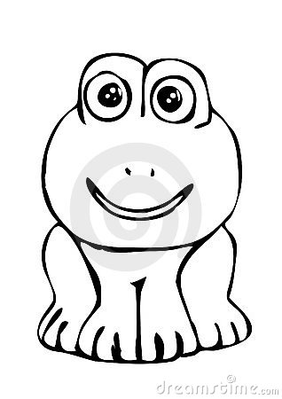 Frog as black and white picture to color