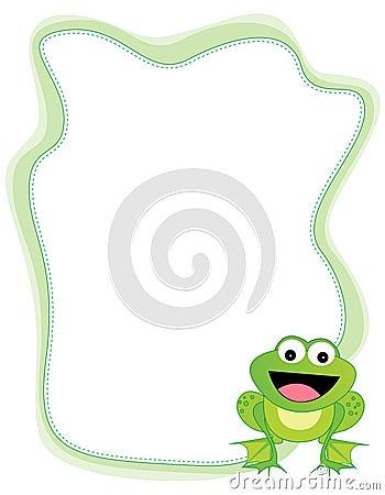Free Frog Border Royalty Free Stock Image - 12541716