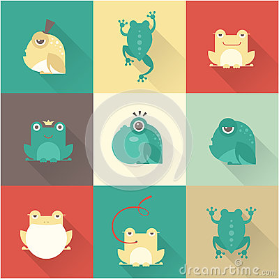 Free Frog Characters Flat Stock Photography - 48085822