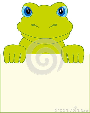 Frog and clean sheet Vector Illustration