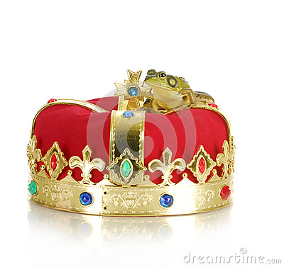 Frog on crown