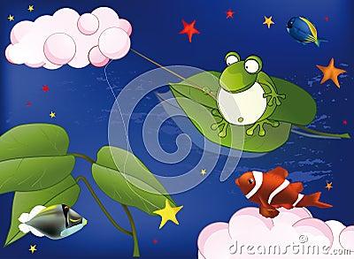 Frog on fishing