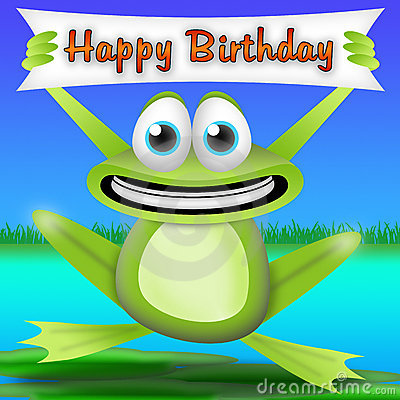 Free Frog Happy Birthday Stock Photos - 19347363