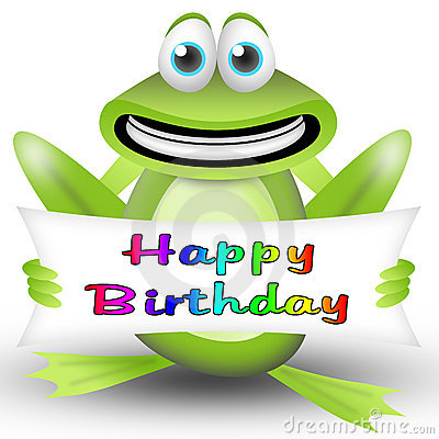 Free Frog Happy Birthday Royalty Free Stock Image - 19408676