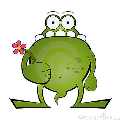 Free Frog Holding Flower Stock Images - 10830004