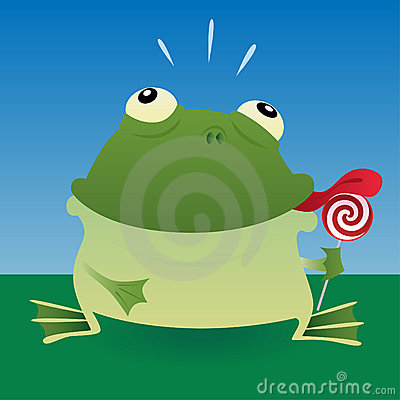 Frog and lollipop